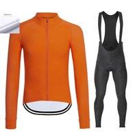Гонки наборы с длинным рукавом Велоспорт Джерси костюм мужчины Термальный флис осень зима теплый велосипедный набор команды