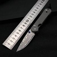 Damasco Chris Sebenza 21 tattico coltello pieghevole TC4 Manico in titanio Autodifesa Caccia Pocket Pocket Survival Knife UT85 BM 535 485 3300 3400