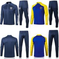 2020 2021 взрослых Kit Длинные рукава Boca Juniors Полная застежка -молния футбол теплая куртка мундирах костюмы футбол 20 21 футбол пальто спортивный костюм