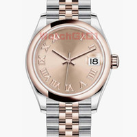 Top Quality Damen Damenuhr 31mm Römische Nummer Gesicht Everose Damen Datum Saphir Zifferblatt Automatische Bewegung Mechanische Uhren Armbanduhren