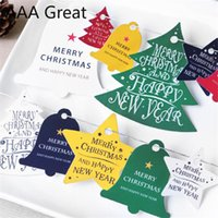 30Pcs Lot Christmas Cute Irregular Tags Decorate Tag Card Tree Festival Cards Candy Birthday Supplies Present Packaging Paper