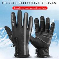 Перчатки зимние Велоспорт Велосипед Мужчины сенсорный экран ветрозащитный Тепловое Теплые флисовые перчатки Женщины Мотоцикл Велосипед Горные лыжи Перчатка