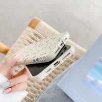 Ins Симпатичные Свежий цветок Антидетонационные телефон Чехлы для iPhone 11 Pro Max XR X XS 7 8Plus SE2 Relief кожа мягкая задняя сторона обложки