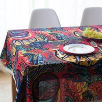 Настольная ткань Средиземноморский ресторан квадратный скатерть юго-восточный азиатский этнический цыганский стиль хлопчатобумажный и льняной ткань кофе