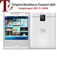 الأصلي مقفلة بلاك بيري جواز سفر Q30 LTE الهاتف الخليوي BlackBerry OS 10.3 رباعية النواة 3 جيجابايت RAM 32GB ROM 13MP كاميرا الهاتف المحمول