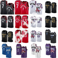 NCAA KYLE 7 LOWRY PASCAL 43 Siakam Fred 23 Ванвлеет Баскетбол Джерси Сартичен Трейси 1 McGrady Винс 15 Картер Ретро Рубашка