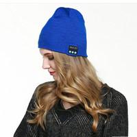 스피커 크리에이티브 헤드폰 스포츠 비니 OOA8393와 무선 블루투스 음악 모자 스마트 헤드셋 비니 모자 겨울 따뜻한 니트 모자
