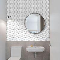 10pcs Azulejos Cuarto de baño auto-adhesivo de la etiqueta engomada impermeable Mosaico Backsplash de la cocina etiqueta de la pared DIY nórdica decoración del hogar moderno