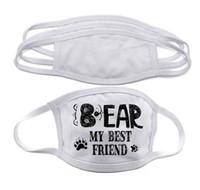 Camadas de máscara nos Stock Blanks sublimação cara Adultos Crianças Duplo Máscara de prevenção de poeira Para DIY calor transferência impressão DHL