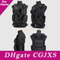 Hunting Clothes Swat Tactical Vest Swat Jacket Peito Rig multi -Bolso Army Swat Cs caça Vest Camping Acessórios