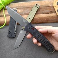 Benchmade 537 Bugout AXIS dobrável faca punho fibra Grivory D2 lâmina de bolso / Sobrevivência / EDC faca 537GY C07 tático faca