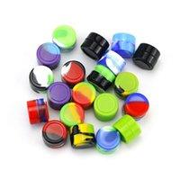 Nonstick 왁스 컨테이너 실리콘 박스 2 / 3 / 5 / 1 / 9 / 10ml 실리콘 컨테이너 항아리 DAB 도구 저장 용기 오일 홀더 Vape Mixed Color