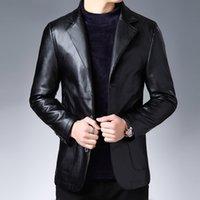 Autunno 2019 Nuovo vestito Giacca in pelle Business Fashion Giacca da uomo Slim fit in pelle giacca in pelle giacca per uomo