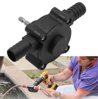 Electric Drill Pump Selbstansaugend Förderpumpen Öl-flüssiges Wasser-Pumpe tragbare Runde Schaft Heavy Duty selbstansaugend Hand