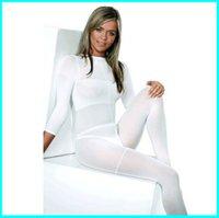 MOQ 10 PCS !!! Velashape 치료 기계 용 화이트 / 블랙 LPG 바디 롤러 마사지 의상 진공 정장 높은 탄성 소프트 옷 CE / DHL