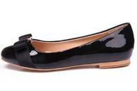 donne calde di vendita degli appartamenti di balletto Vera Pelle Scarpe Donna Bow Tie Appartamenti signore Zapatos Mujer Sapato Feminino