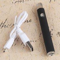 510 Ecig Thread Vaporizer Batterie Ego Micro USB-Durchgang durch einstellbare variable Spannung 380mAh Vorheizvorwärmung Bottom Ladung Hash Öl Vape Pen
