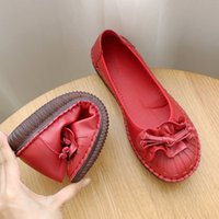 Women's Flat Shoes Vintage Moccasins Ladies Spring Autumn 2020 Comfortable Soft Mom Shoes Casual Shallow Sewing Female Loafers