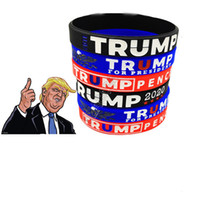 Trump Pulseira Designers Silicone Pulseira Pulseira 2020 faixa de pulso Presidente Donald Votação borracha macia Wristlet Pulseiras Strap Nova D82612