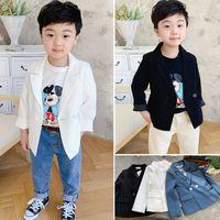 Pojkar LAPEL Långärmad En kostym Barn Casual Outwear Kids Blazers Shool Boy Clothing A3940