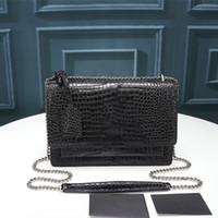 디자이너 명품 핸드백 지갑 고품질의 플랩 백 일몰 체인 지갑 여성 체인 숄더 가방 패션 디자이너 크로스 바디 백