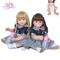 NPK 55cm authentic designed reborn baby girl original two co...