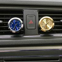 Auto klok Lichtgevende Mini Automobiel Interne Invoeging Type Digitale Horloge Mechanica Quartz Klokken Automotive Decoration Accessoire Gift BH3510 BC