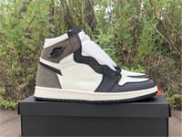 AUTENTIC 1 HIGH OG ORD DARK MOCHA Scarpe da esterno Uomo Donne Vela Dark Mocha Black Travis Scott Zapatos Sneakers Sport con scatola originale