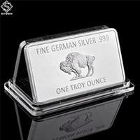 Tedesco Mint Craft 1 Troy Oncia Buffalo Souvenir Medallion Bar Copia moneta in Dio Confidiamo BULION in argento