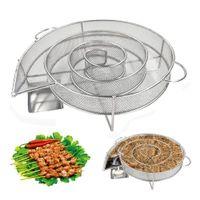 الباردة دخان مولد للشواء أو مدخن الخشب الغبار الساخنة والباردة تدخين السلمون اللحوم حرق الطبخ الفولاذ المقاوم للأدوات BBQ
