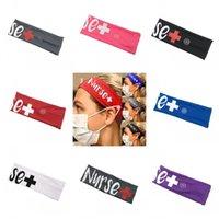 Infermiera Bandeaux Con mascherina di modo elastico Fibbia fasce Scrunchie Hairband Capelli Tie Accessori per capelli Yoga Headwear Fit Forniture 4 77jy C2