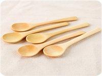 اليابانية والكورية وأدوات المائدة التعامل مع القهوة تغذية خشبي ملعقة عسل ملعقة طفل أن أنقش LOGO