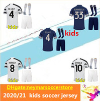 2020 2021 maillot de foot Juventus kids soccer jersey RONALDO pour enfants 20 21 kids maillots de football DYBALA DE LIGT maillot de football shirts pour kit