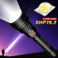 مشاعل مشاعل أقوى LED USB الشعلة القابلة لإعادة الشحن XHP50 XHP70 استخدام ماء 26650 18650 البطارية