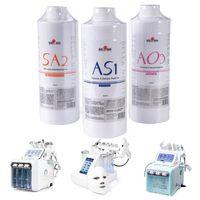 Hydrafacial استخدام آلات أكوا تقشير الحل AS1 SA2 AO3 أكوا الوجه سيروم هيدرا الوجه الجلد المصل للبشرة العادية