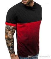 Spor Tees Kısa kollu üstler 19ss Yeni Erkek Yaz Tshirts Renk Patchwork Gym Fitness