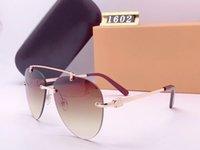 Tasarımcı Oval Pilot Güneş Bay Bayan Unisex Vintage Shades Sürüş Polarize Sunglass Erkek Gözlük Moda Metal Plank Sunglass Gözlük