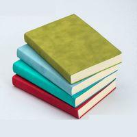 Ruize de imitación de cuero suave cubierta diario cuaderno de papel grueso páginas en blanco blancas de bocetos de Agenda A5 bloc de notas oficina vendimia nota