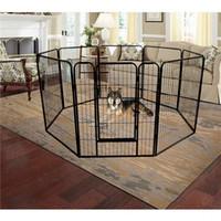 EE.UU. culata plegable de metal Ejercicio Pen / corral para mascotas, 8-panel grande resistente cerca del perro, gato perrito del animal doméstico Ejercicio parque infantil al aire libre de interior W24101525