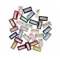 Logo Makyaj Seti Kirpikleri Kılıf Paketi ile Packaging 100 Adet Kirpik Packaging Kutu Toplu Toptan Özel 3D Vizon Kirpikler Kutular