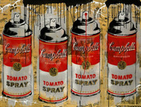 Mr Brainwash Graffiti Art Campbell Soup Can Wall Decor Handp...