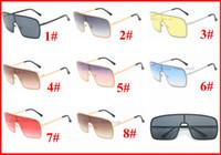 Quadro homens grandes óculos escuros de grife Lens Preto mulheres óculos de sol para homens óculos oversized quadrados praia do verão óculos de 8 cores 5PCS