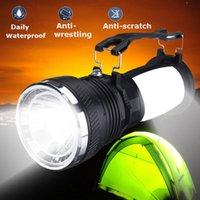 Lanternas portáteis lâmpada de energia solar bateria recarregável conduziu ao ar livre acampamento tenda lanterna lanterna dag-navio