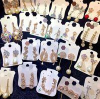 NEUE koreanische Art-Frauen-925 silberne Nadel Zircon-Perlen-Ohrringe Valentinstag Mädchen-Geschenk Statement Ohrringe freies Großhandelsschiff