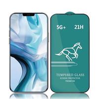 iPhone 12 iPhone XR XS 8plus SE Cam dostu vaka için 11 pro maksimum temperli cam Ekran Portectors için tam Kapak temperli cam
