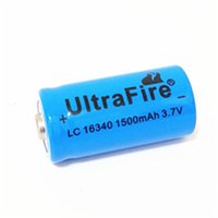 blu batteria UltreFire di alta qualità CR123A / 16340 1500mAh 3.7V batteria al litio ricaricabile di trasporto