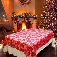 Noel Düğün Akşam Partisi Ev Dekorasyonu için Dikdörtgen Çiçek Dantel örtüler Yeniden kullanılabilir Masa Örtüsü