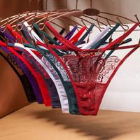 شبكة سلس المرأة سراويل التطريز فراشة شفافة الكريستال الملابس الداخلية منخفضة الخصر جنسي ينغيرييس ثونغ تي السراويل g سلسلة ملخصات