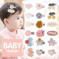 Baby Hair Clips Handmade Felt Cloth Children Flower Hairpin Cute School Girls Barrette Infant Side Clip Korean Style Hairgirps