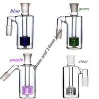 45 Grad 14mm Glas Aschfänger reclaim Fang Matrix Perc 18mm Glas Aschfänger Für Hookahs Bong Rauchen Zubehör Kostenloser Versand